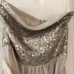 Rebecca Taylor Dresses - Sequin silk dress strapless